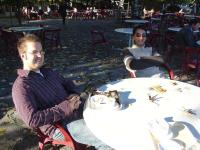 Joe and Reza around CERN table