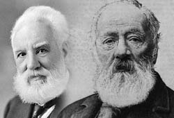 Alexander Graham Bell and Antonio Meucci