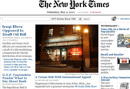Zingerman's on NYTimes.com